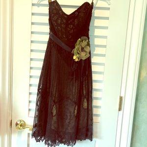 Betsey Johnson Vintage Lace Black Dress